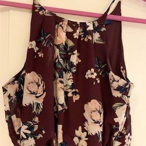 Light, polyester strap dress